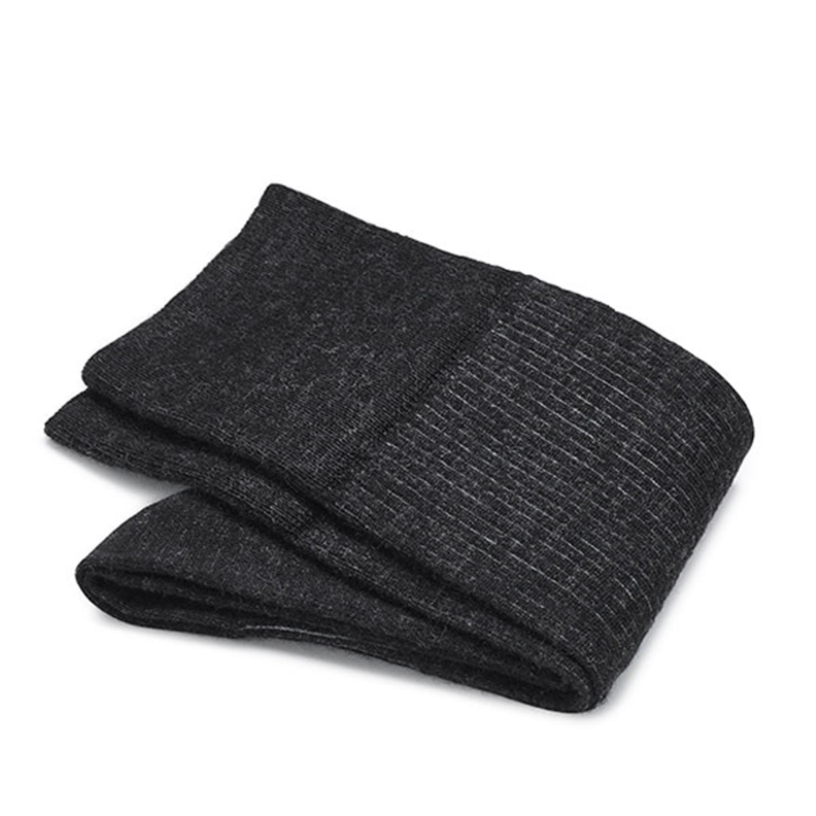Carlo Lanza korte sokken wol antraciet shadow