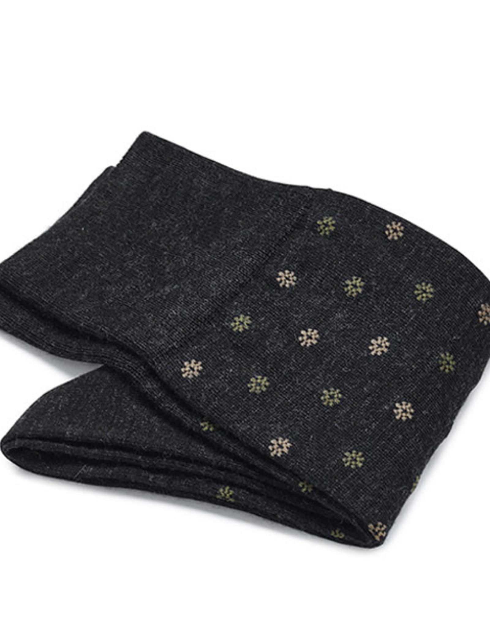 Carlo Lanza korte sokken wol antraciet fiore