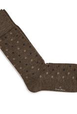 Carlo Lanza korte sokken wol camel fiore