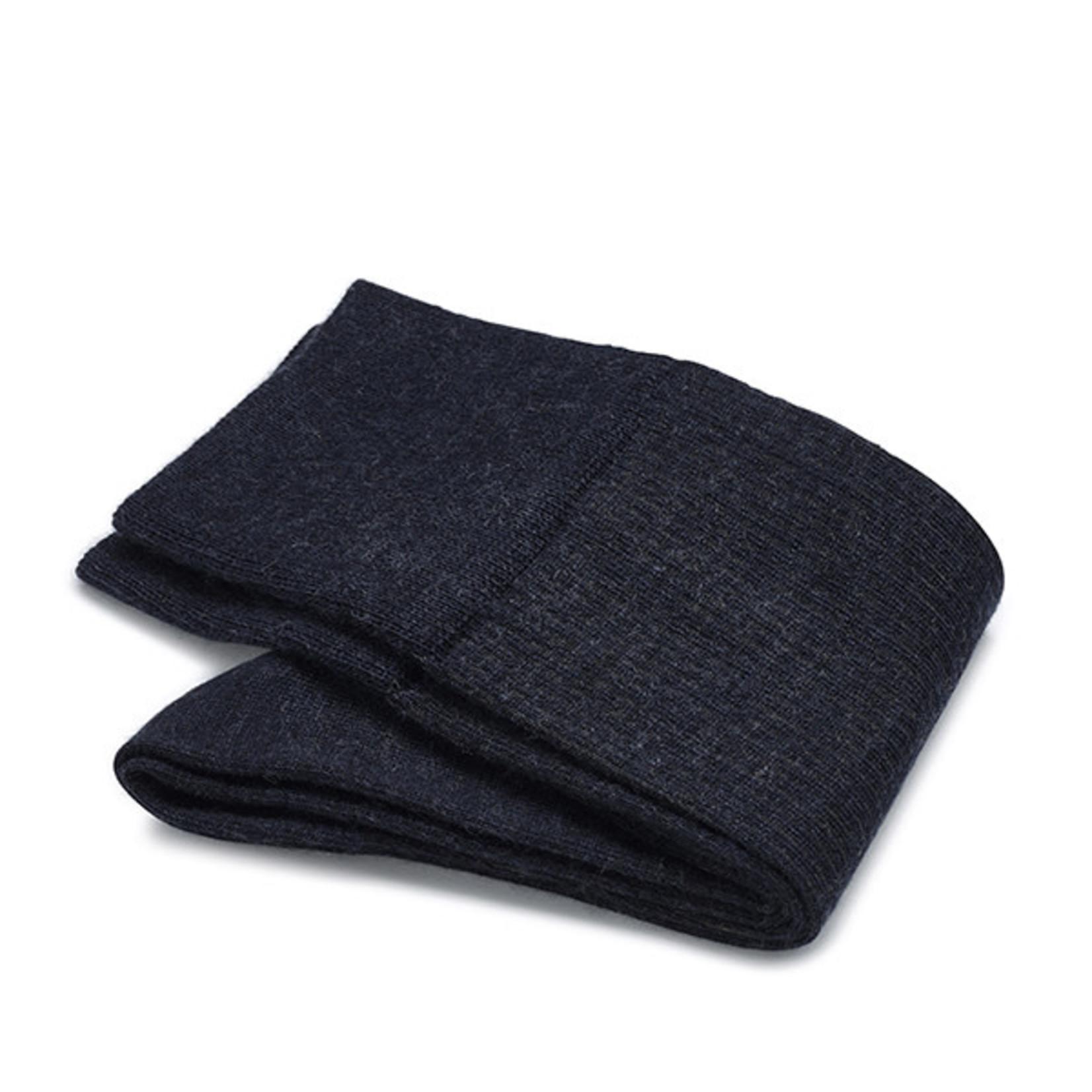 Carlo Lanza korte sokken wol denim shadow