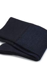 Carlo Lanza korte sokken wol marine shadow