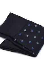 Carlo Lanza korte sokken wol marine fiore
