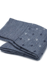 Carlo Lanza korte sokken wol lichtblauw fiore