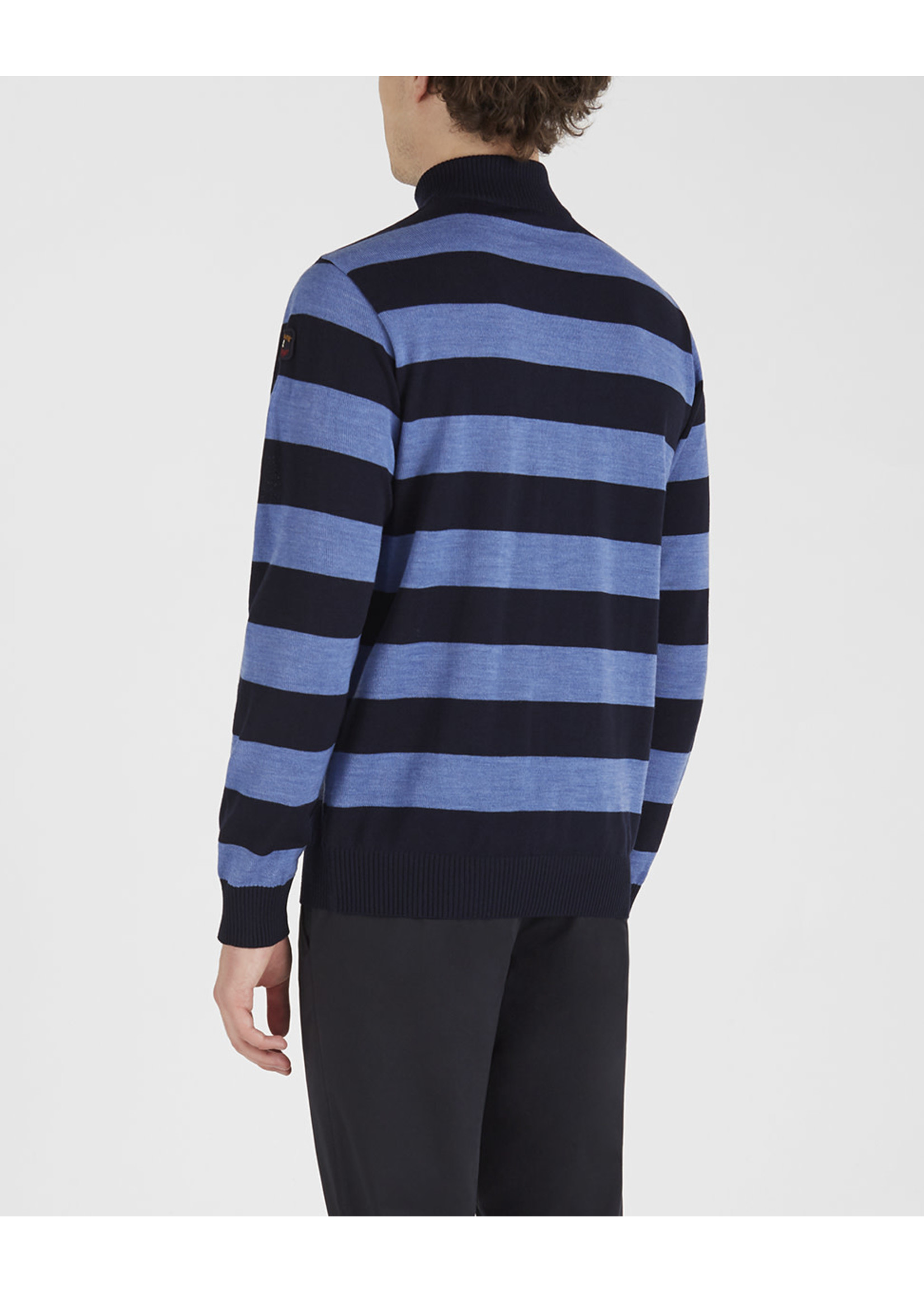 Paul & Shark rits pullover blauwe strepen