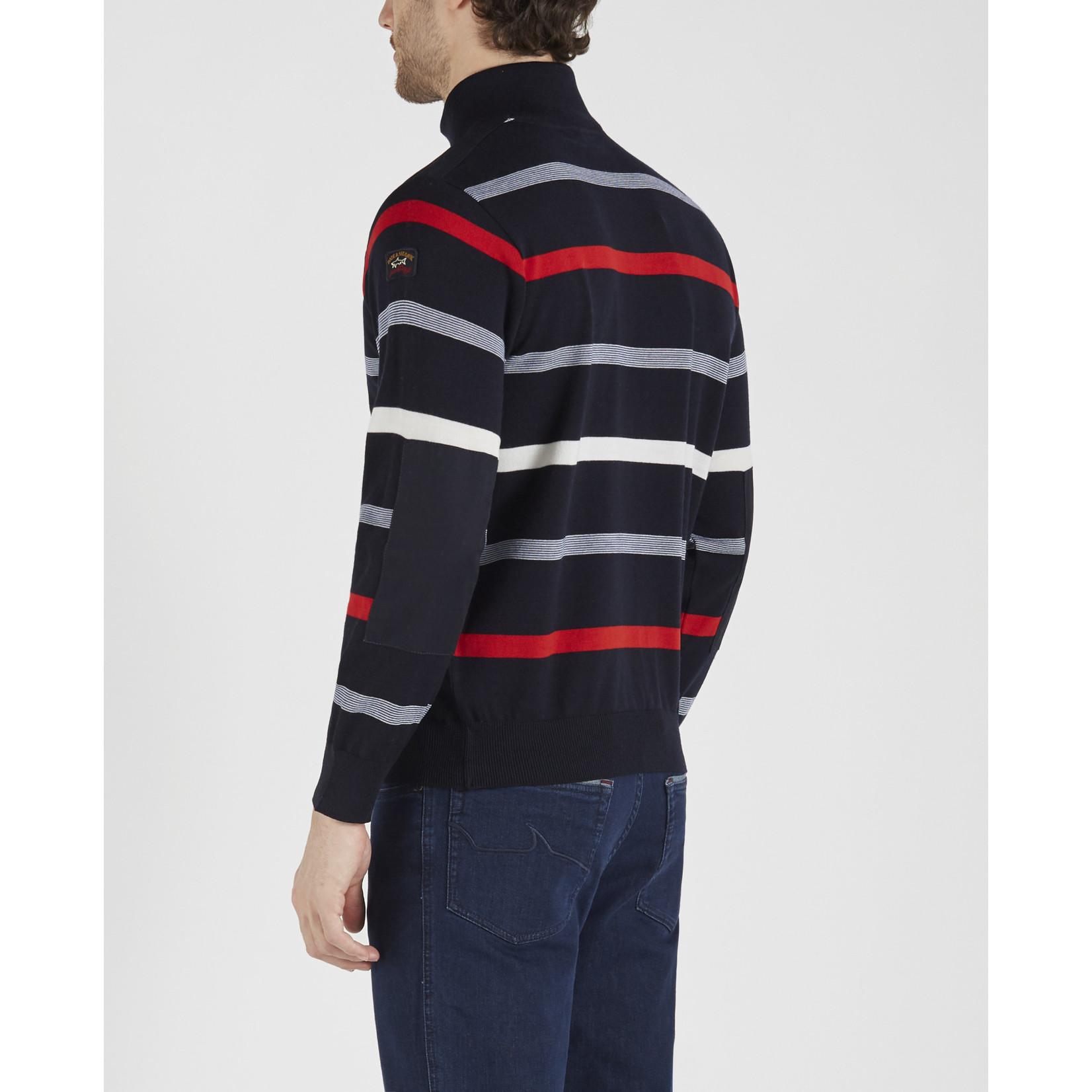 Paul & Shark rits pullover rode strepen
