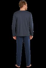 Schiesser lange mouw pyjama marine