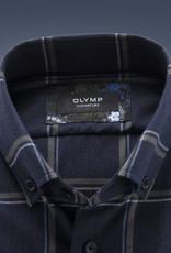 Olymp Signature overhemd marine ruit