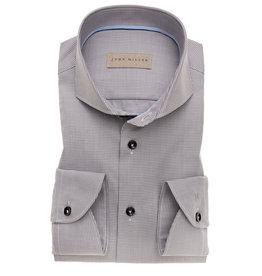 John Miller tailored fit overhemd grijs