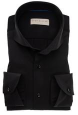 John Miller slim fit overhemd zwart met jersey rug