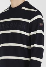 Paul & Shark pullover marine en witte strepen