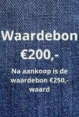 Waardebon €200,- wordt na aankoop €250,- waard