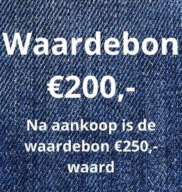 Waardebon €200,- wordt €250,-