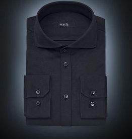 Desoto Luxury jersey overhemd zwart