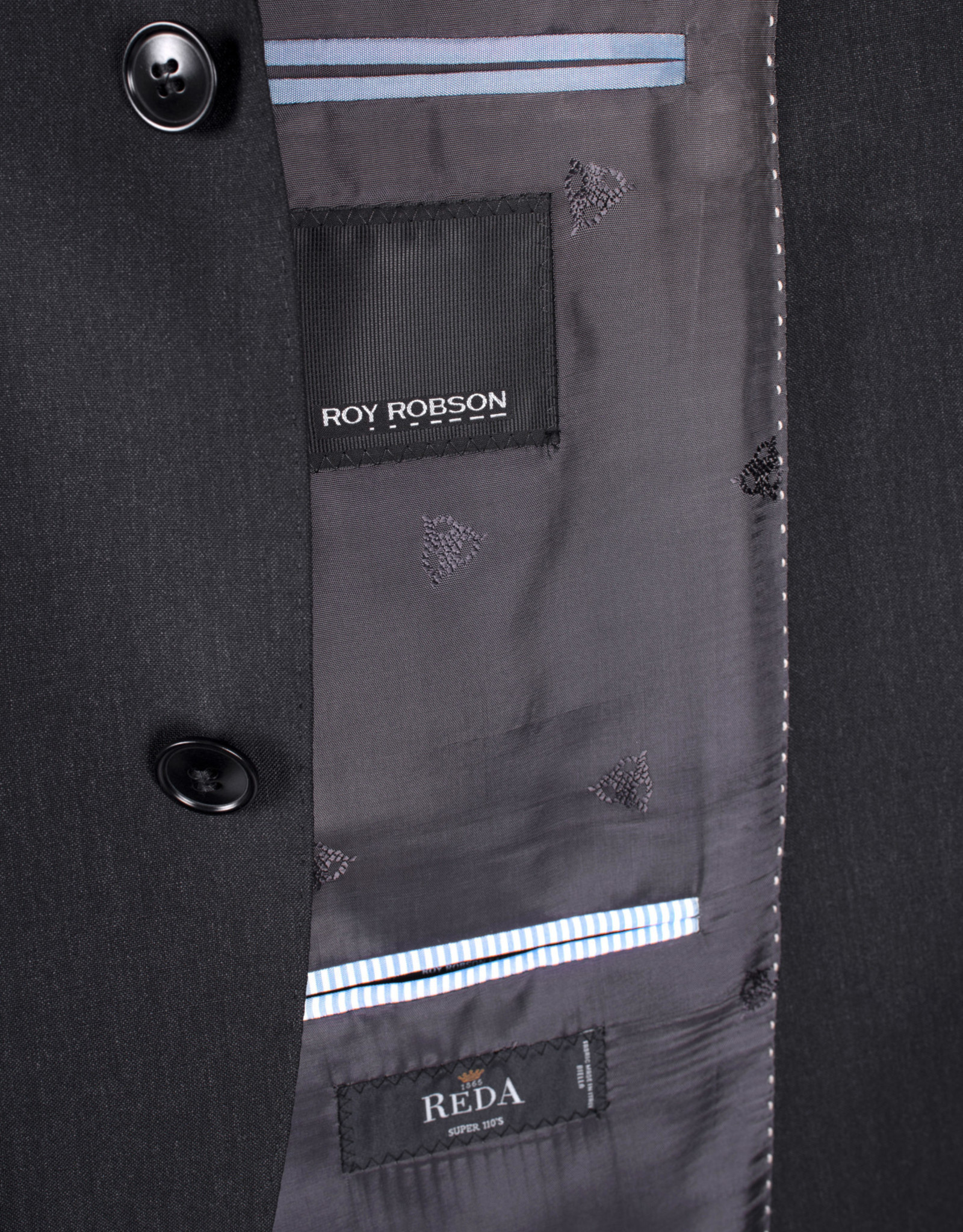 Roy Robson mix & match kostuum regular fit antraciet