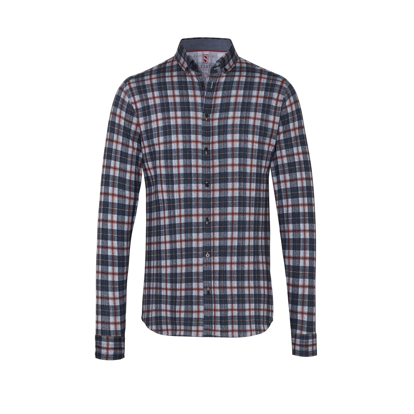 Desoto jersey overhemd blauwe en rode ruit