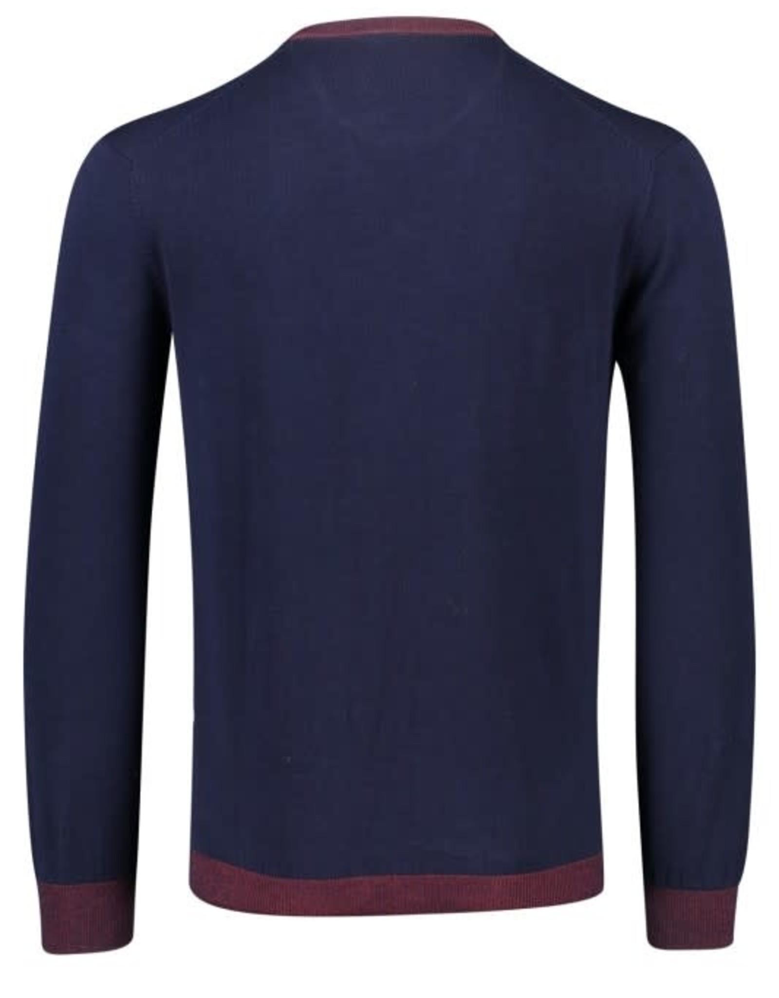 Portofino pullover v-hals marine