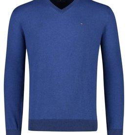 Portofino pullover v-hals kobalt