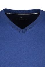 Portofino pullover katoen v-hals kobalt
