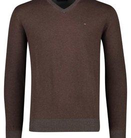 Portofino pullover v-hals bruin