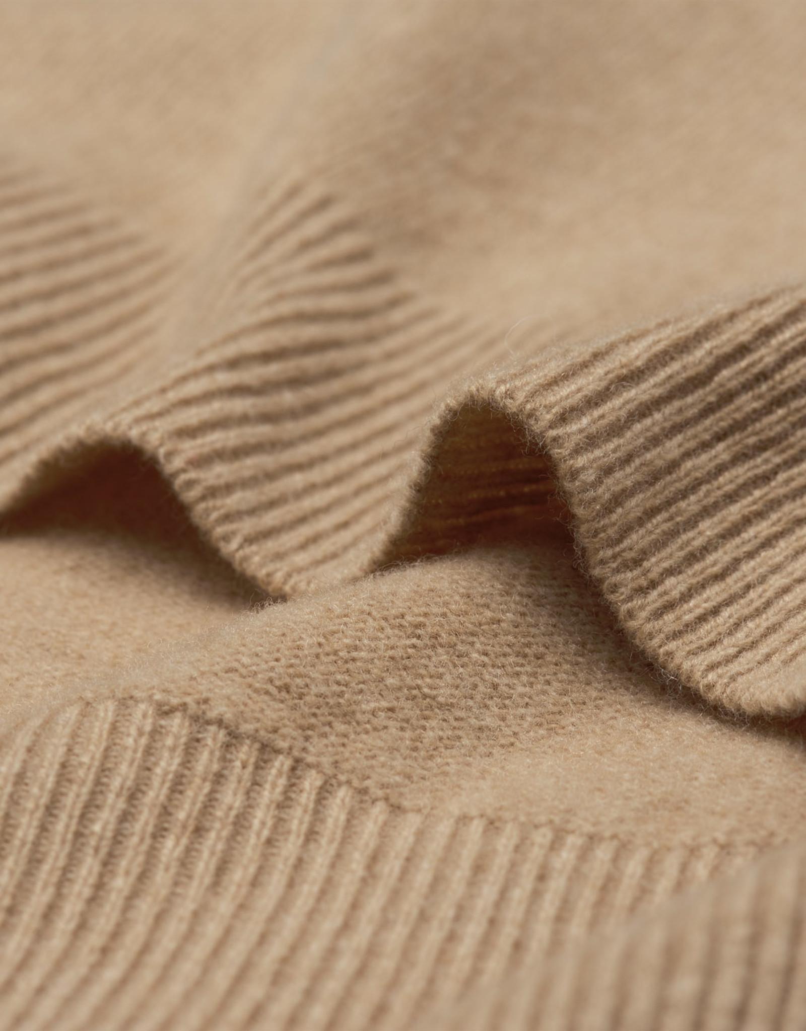 GANT trui lamswol met v-hals zand melange