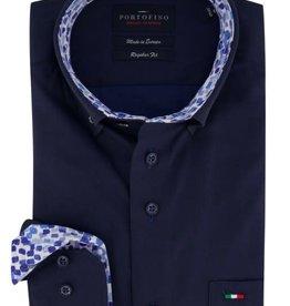 Portofino overhemd marine combi