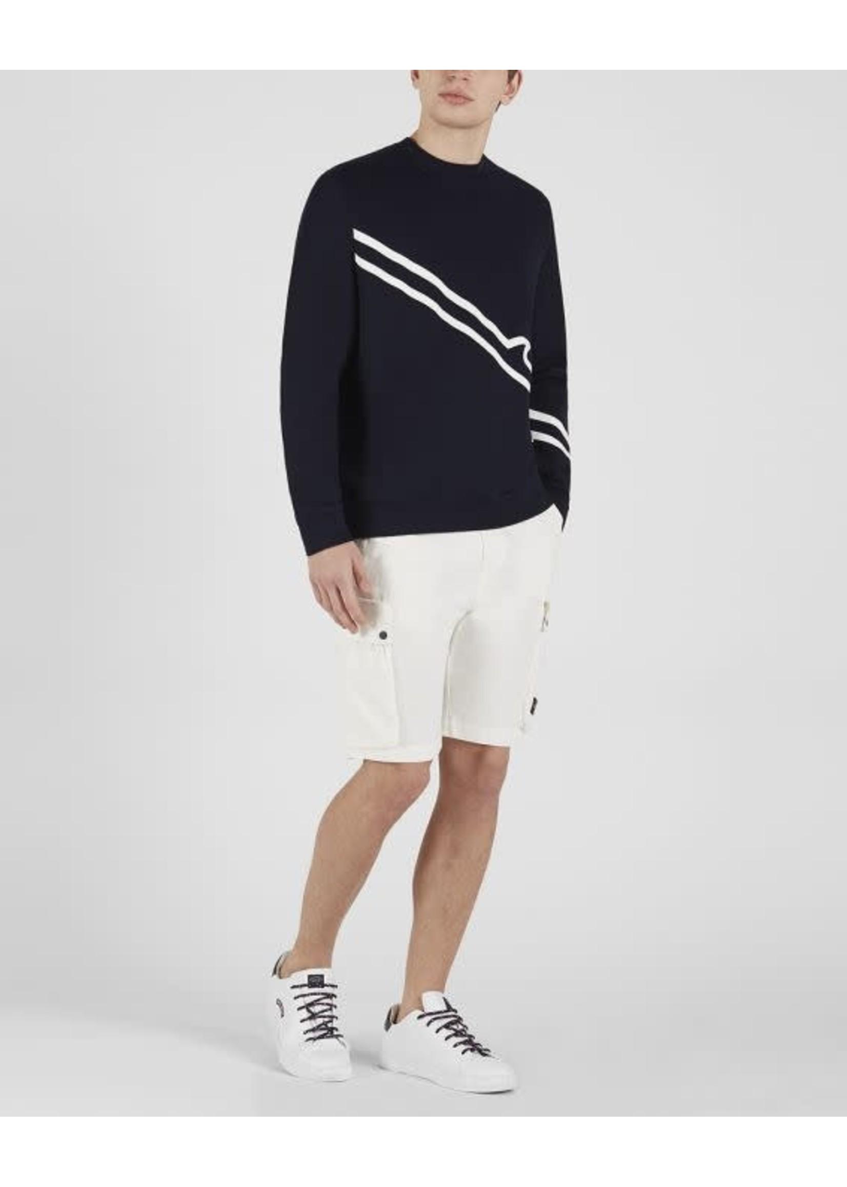 Paul & Shark sweater marine diagonale print