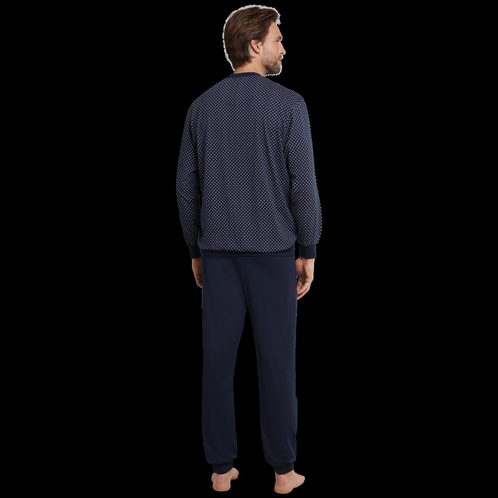 Schiesser pyjama marine combinatie