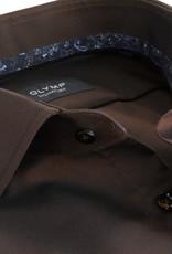 Olymp Signature tailored fit overhemd bruin