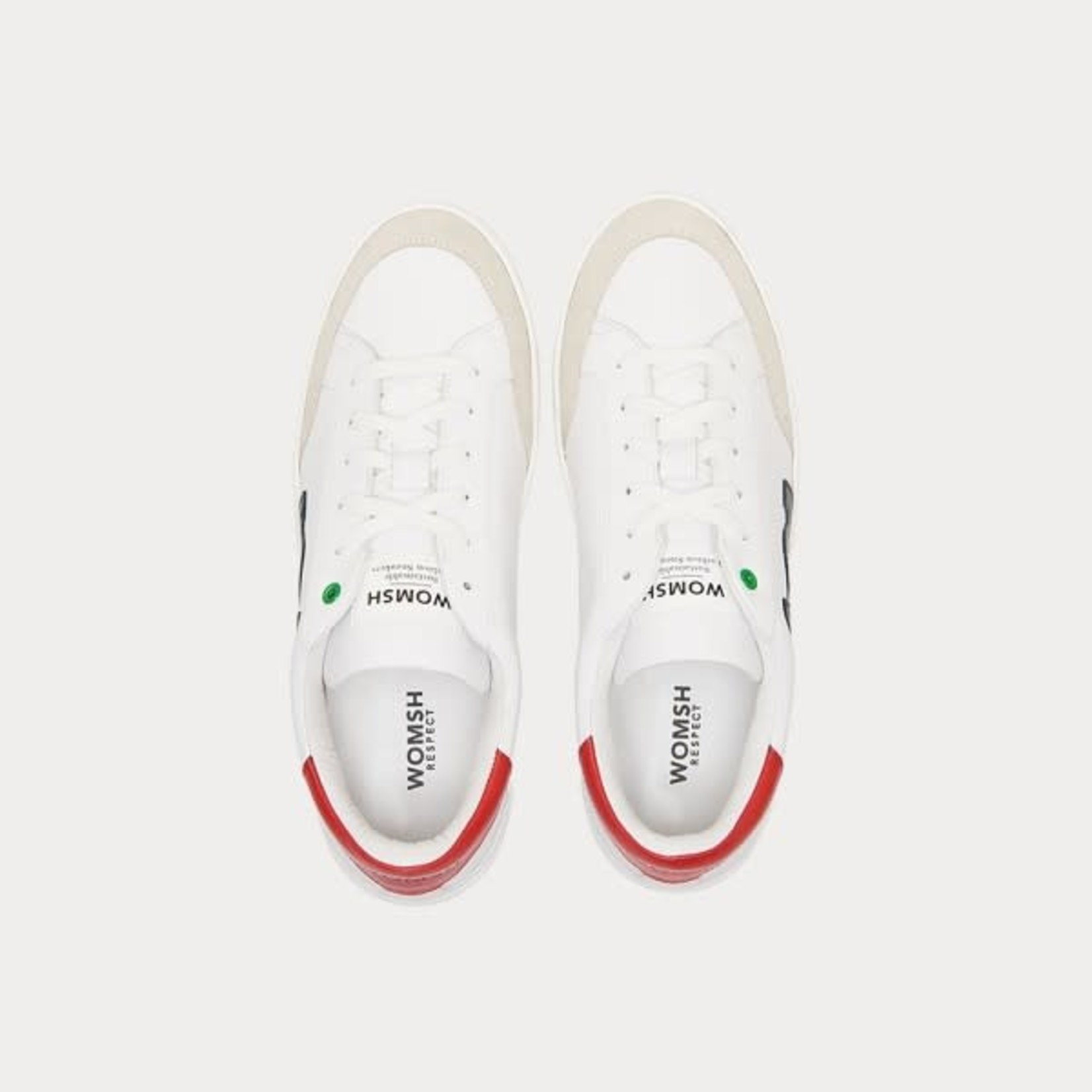 Hector sneaker wit rood