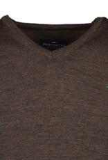 Portofino pullover merino v-hals bruin