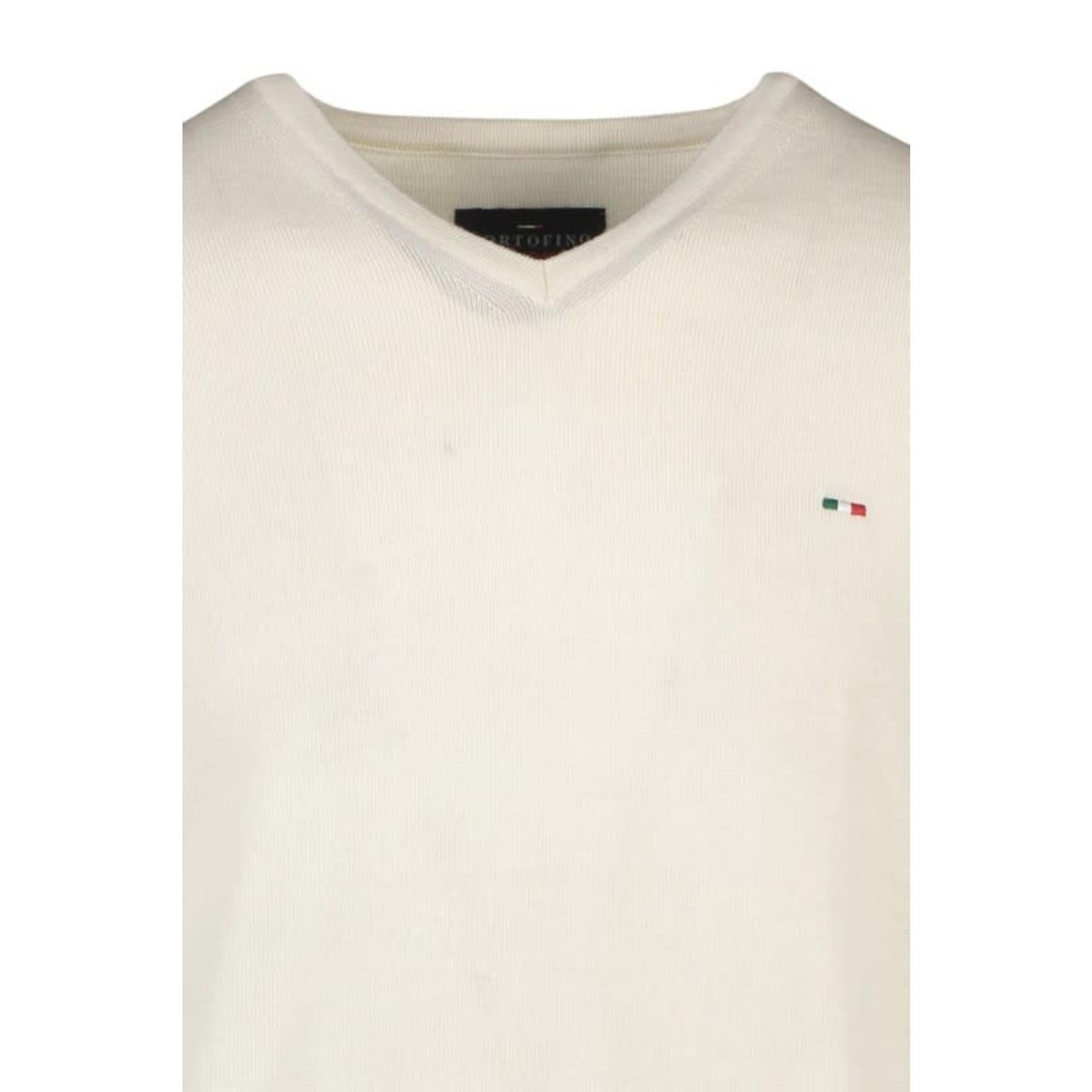 Portofino pullover merino v-hals offwhite