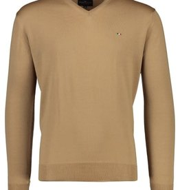 Portofino pullover merino v-hals camel