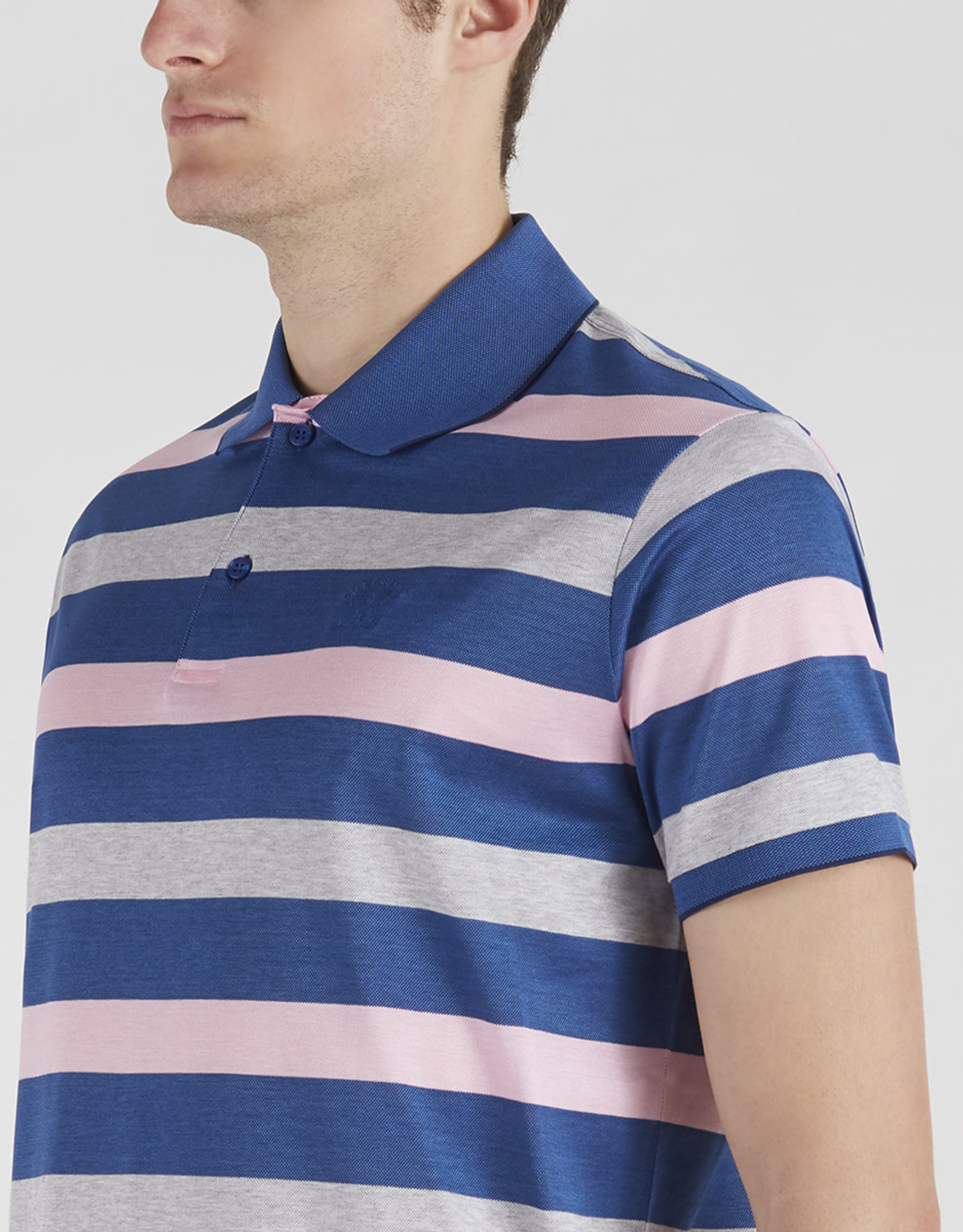 Paul & Shark polo korte mouw roze streep