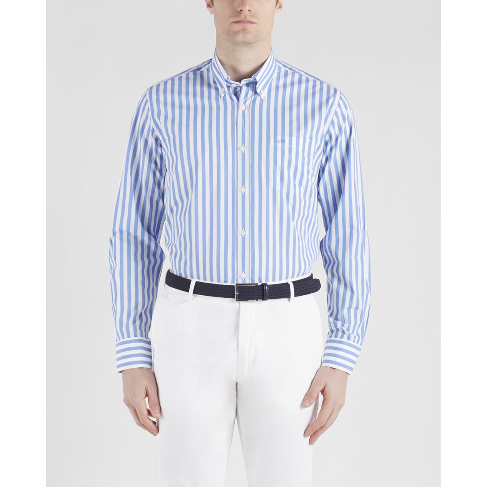 Paul & Shark overhemd lichtblauwe streep