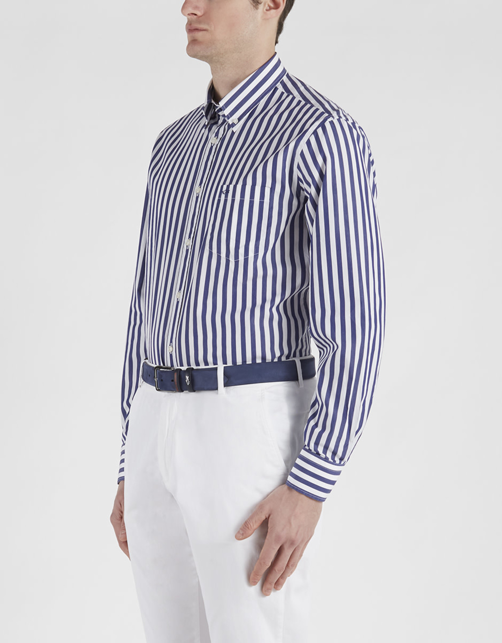 Paul & Shark overhemd marine streep