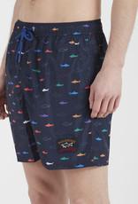 Paul & Shark zwemshort haaien multi colour
