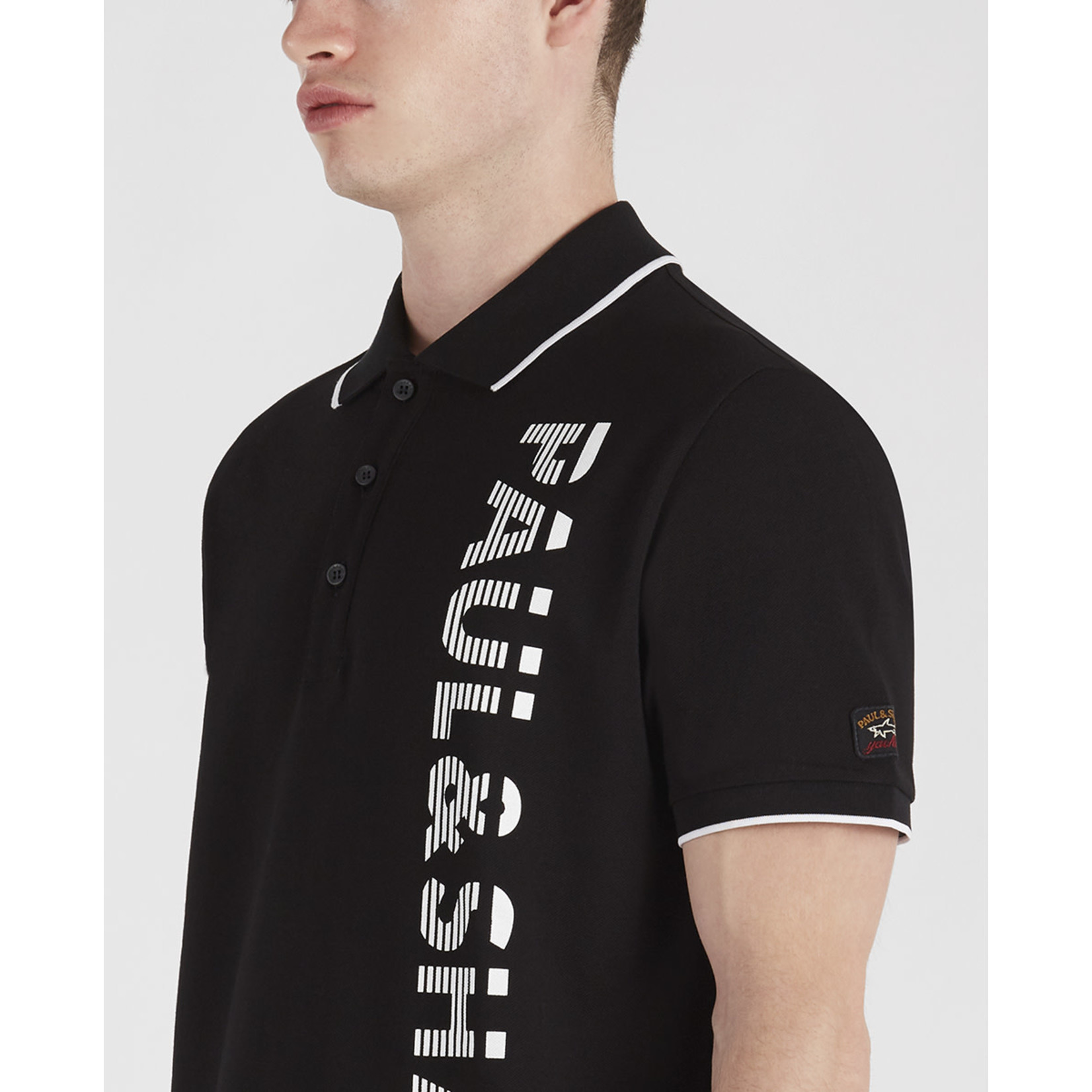 Paul & Shark polo korte mouw zwart