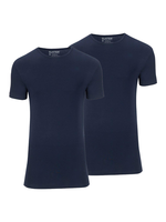Slater Stretch 2-pack ronde hals t-shirt marine
