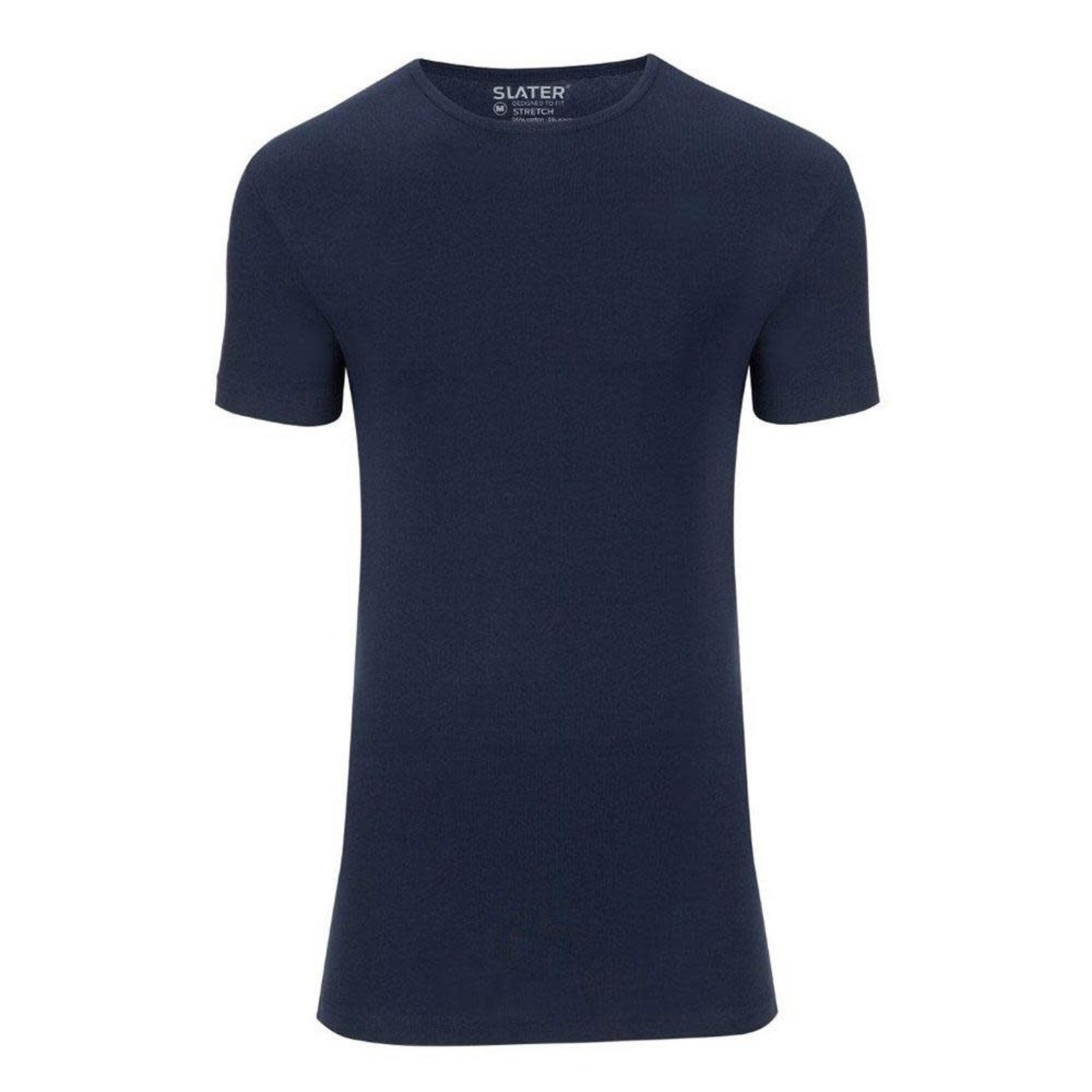 Slater Stretch 2-pack ronde hals t-shirt marine