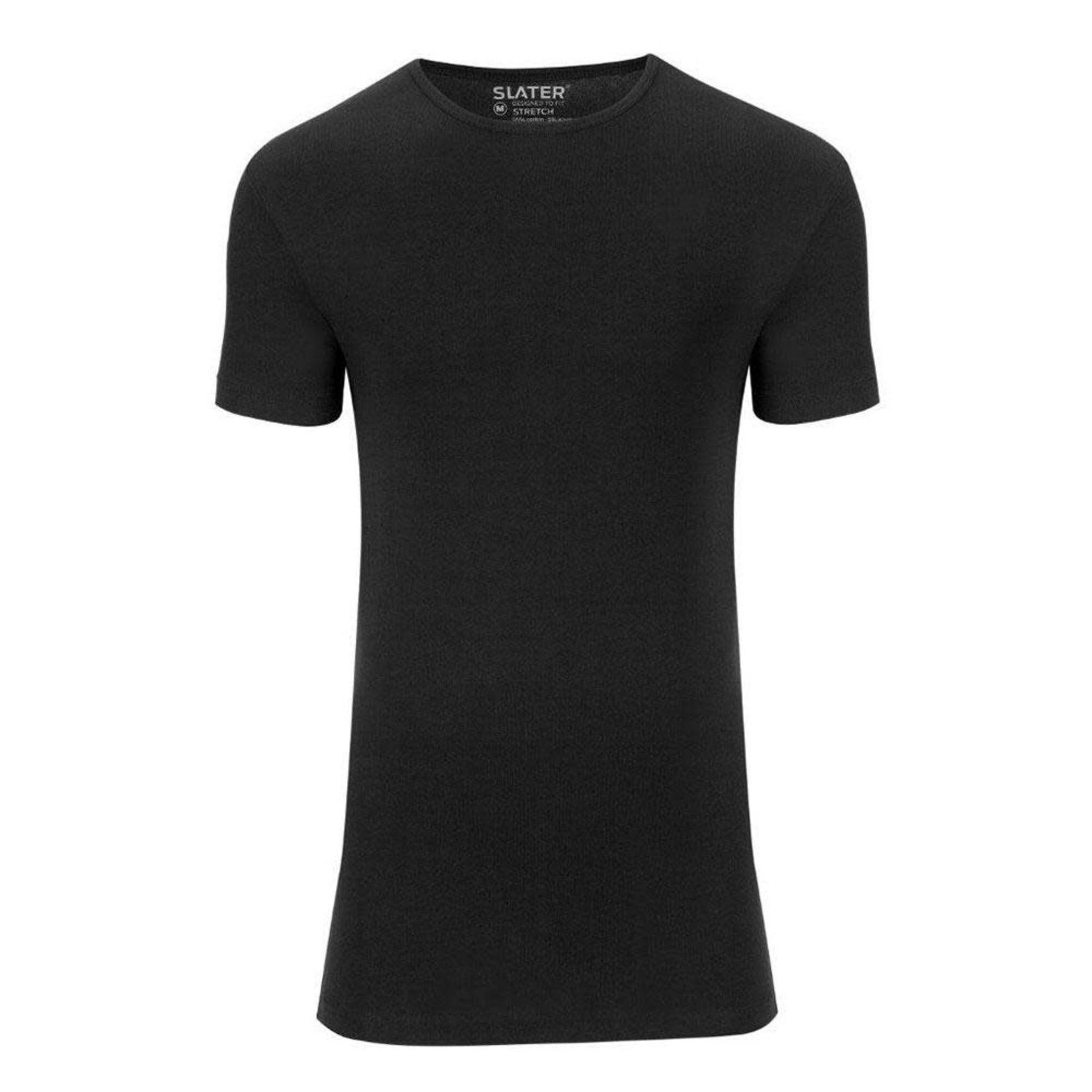 Slater Stretch 2-pack ronde hals t-shirt zwart
