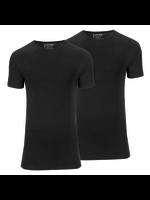 Slater Stretch 2-pack ronde hals t-shirt zwart