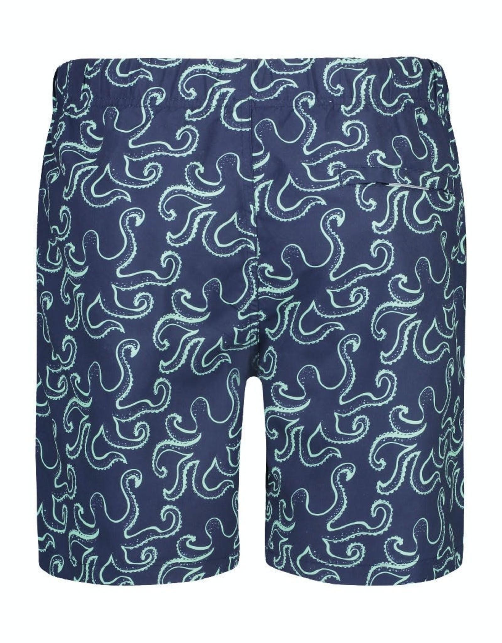 Shiwi zwemshort blauw octopussen