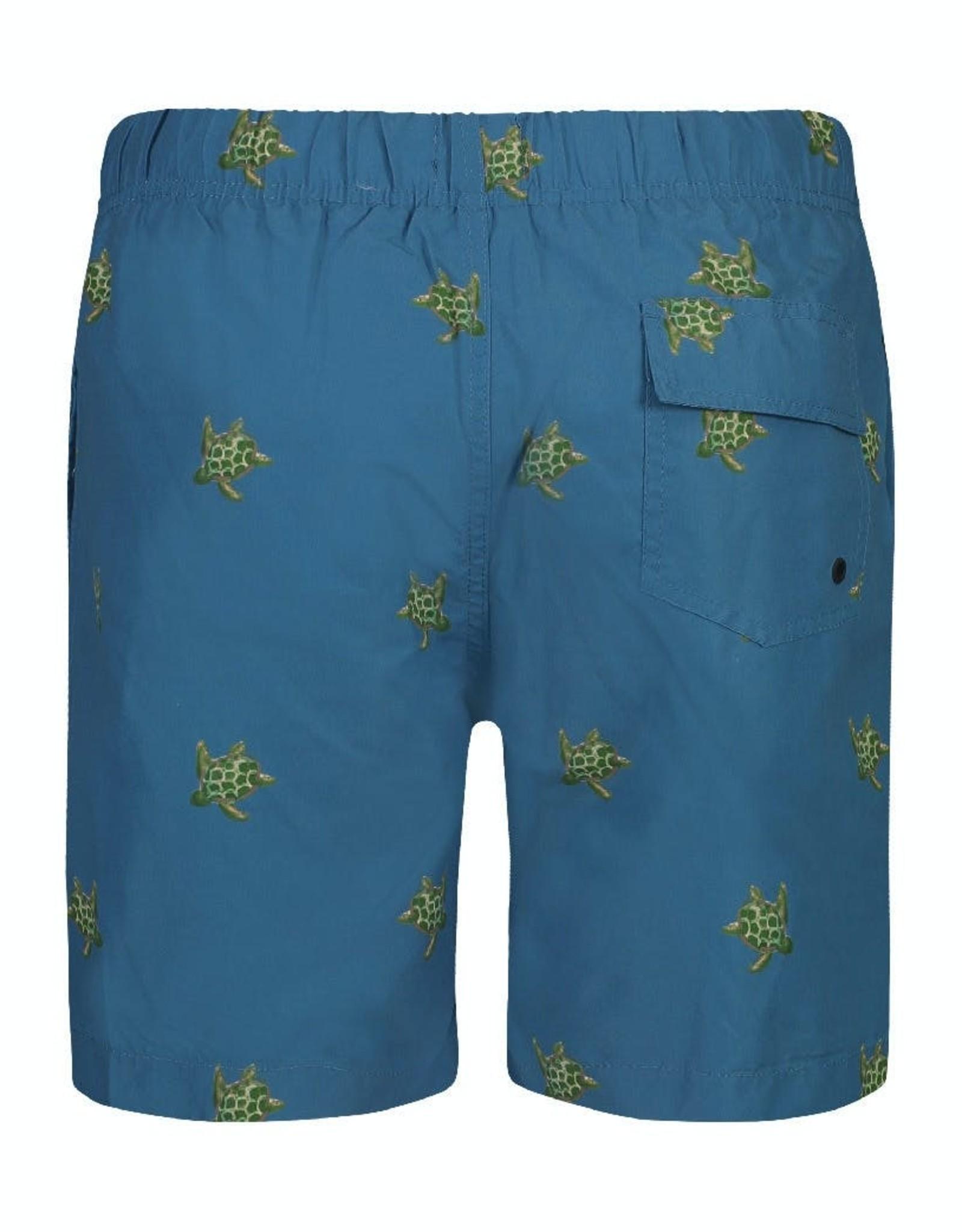 Shiwi zwemshort blauw schildpadden