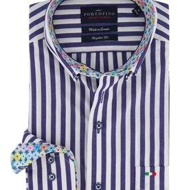 Portofino overhemd blauwe streep