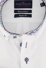 Portofino regular fit overhemd wit