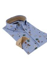Portofino regular fit overhemd blauw dessin