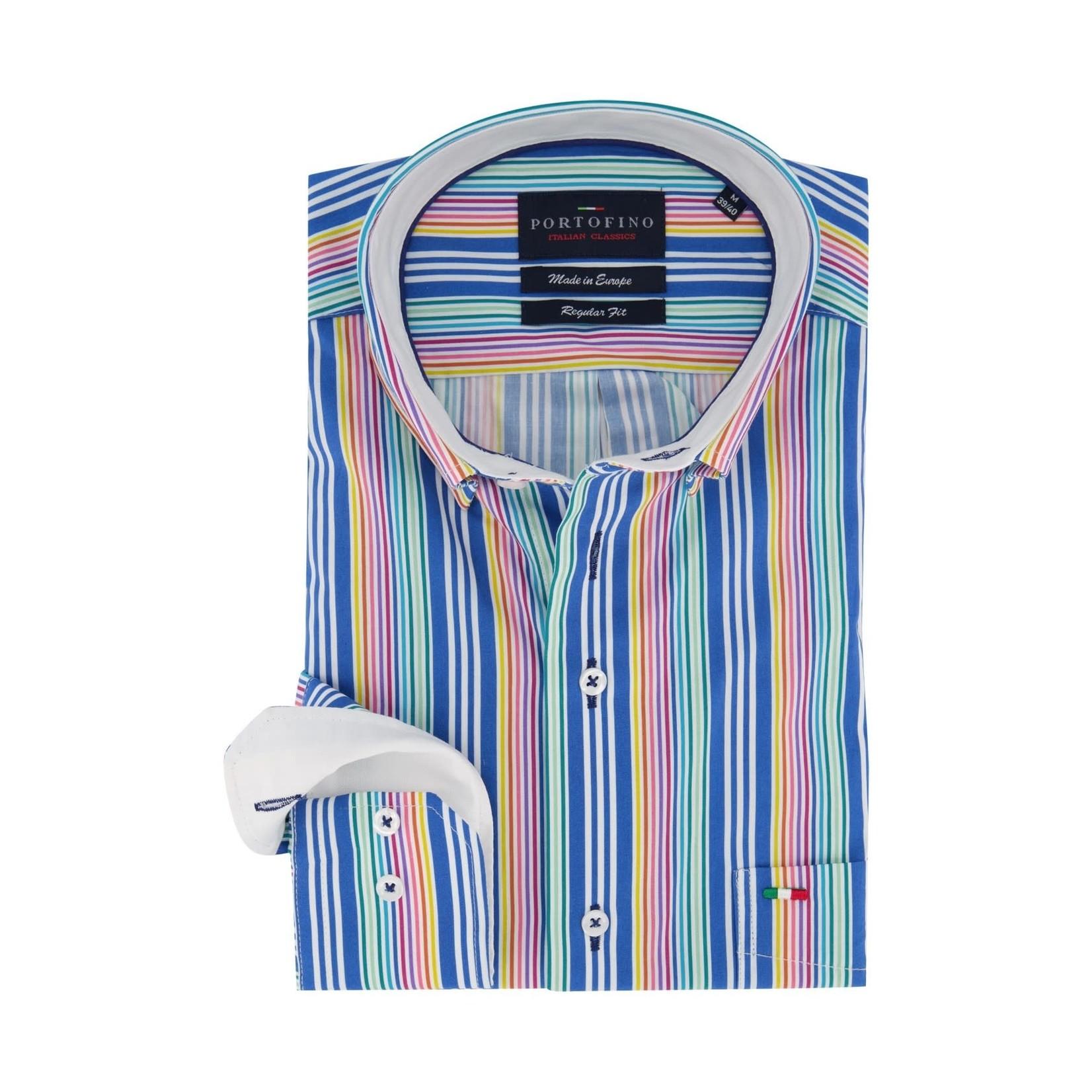 Portofino regular overhemd multi streep