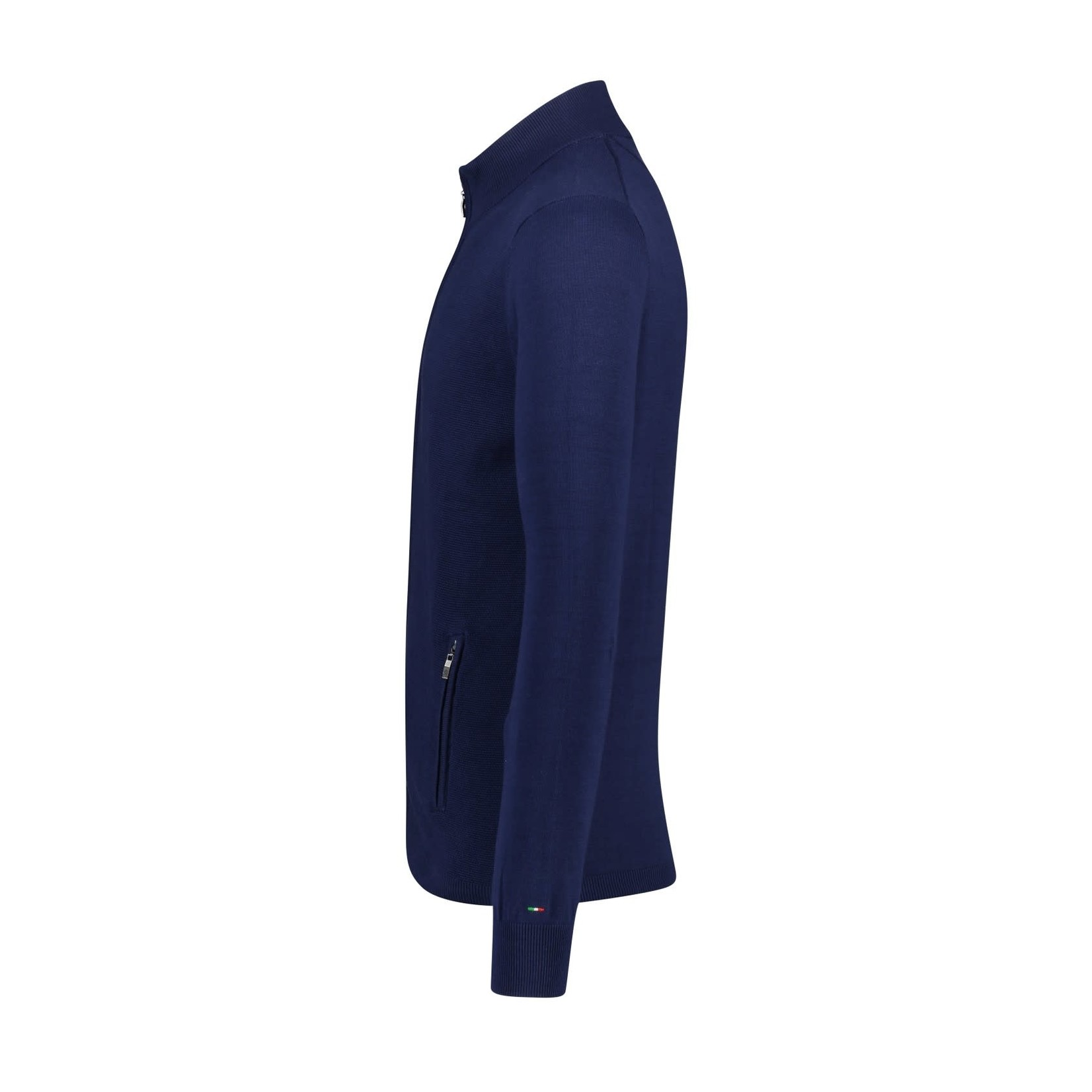 Portofino vest katoen blauw