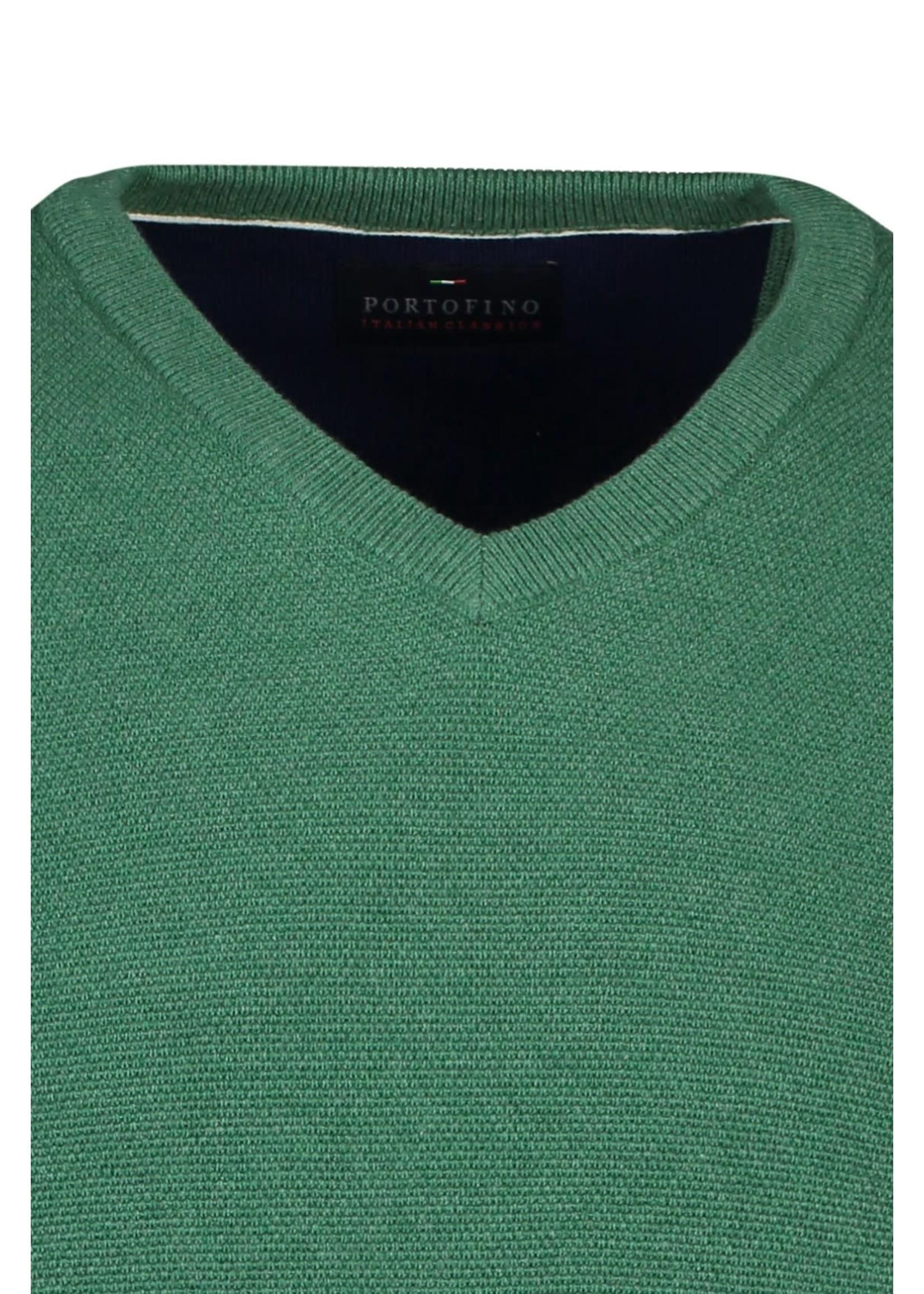 Portofino trui katoen v-hals groen