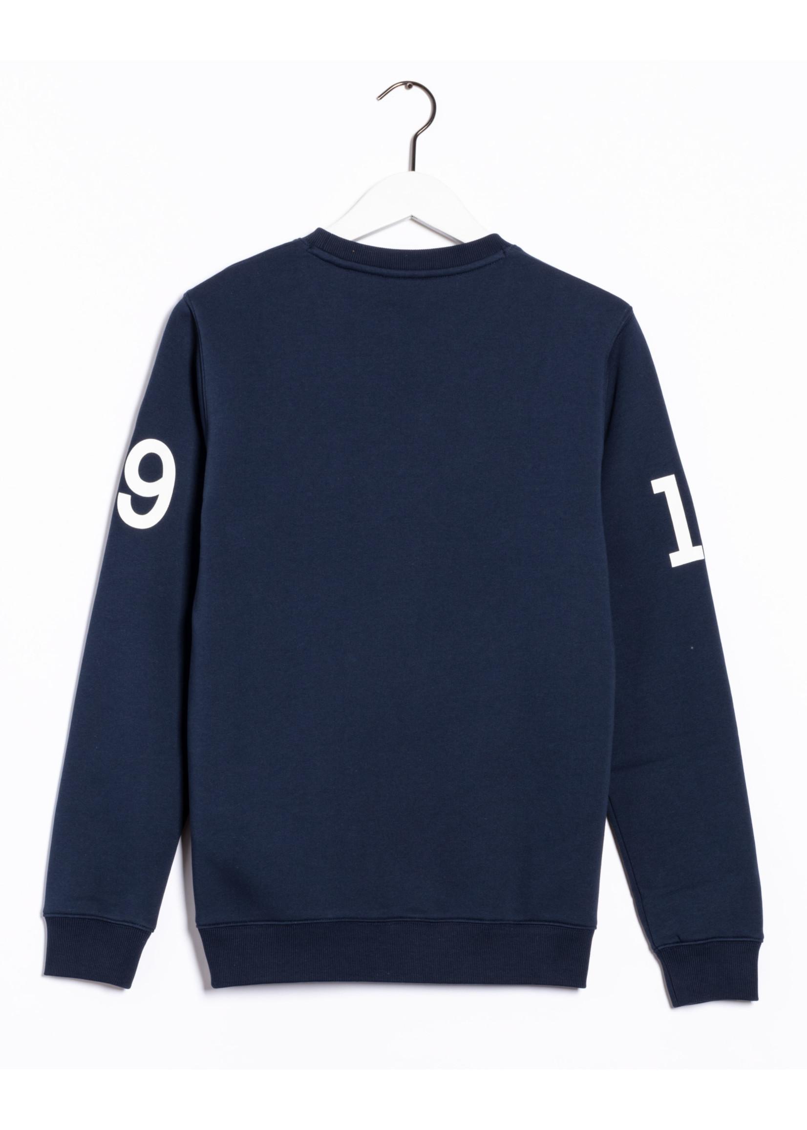 GANT nautische sweater ronde hals marine